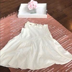 Urban Outfitters Asymmetrical Cream Skirt - S